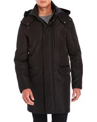 Cole Haan - Car Coat With Removable Hood - Lyst