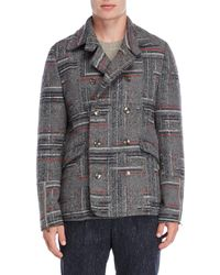 Patrizia Pepe - Printed Double-breasted Coat - Lyst