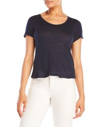Slate & Stone - Cropped Short Sleeve Burnout Tee - Lyst