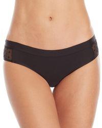 Rene Rofe - Flocked Dot Bikini Panty - Lyst