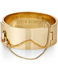 Eddie Borgo - Gold-tone Safety Chain Cuff Bracelet - Lyst