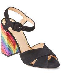 Charlotte Olympia - Black Emma Rainbow Block Heel Sandals - Lyst