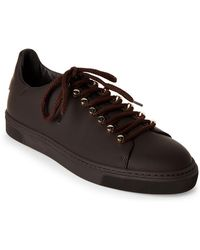 Louis Leeman - Moka Leather Low-top Sneakers - Lyst
