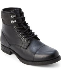 Marc New York - Black Merrick Leather Lace-up Boots - Lyst