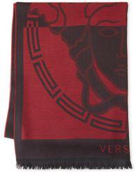 Versace - Medusa-print Wool Shawl - Lyst