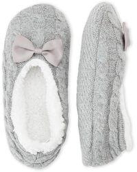 Carole Hochman - Cable Slipper Socks - Lyst
