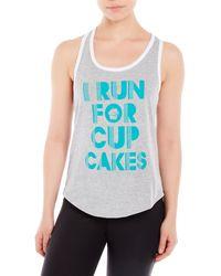 Corner Shop - I Run For Cupcakes Tank - Lyst