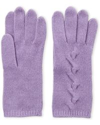 Portolano - Cashmere Cable Knit Gloves - Lyst
