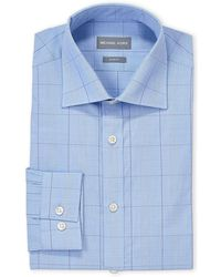 Michael Kors - Blue Plaid Slim Fit Dress Shirt - Lyst