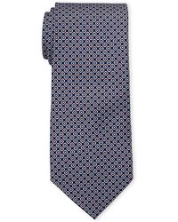 Battistoni - Navy Linked Circle Silk Tie - Lyst
