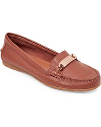 edef77c44a3 Lyst - Coach Fredrica Women Moc Toe Leather Ivory Loafer in White