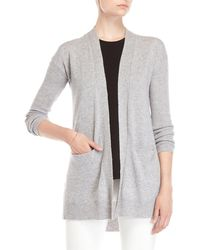 Forte - Ribbed Open Cardigan - Lyst