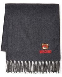 239c51aae5 Moschino Olive Oil Embroidery Wool Scarf - Lyst