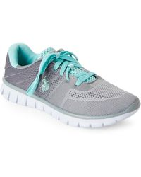 U.S. POLO ASSN. - Grey & Mint Mandy Low-top Sneakers - Lyst