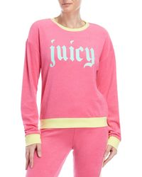 Juicy Couture - Graphic Logo Micro Terry Pullover - Lyst