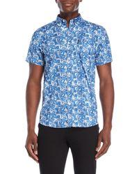 Ben Sherman - Blue Tropical Button-down Shirt - Lyst