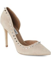 1687f1b3cb5 Steve Madden - Taupe Pacey Spike Trim D orsay Pumps - Lyst