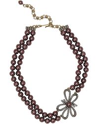 Heidi Daus - Bow Advice Double Strand Faux Pearl Necklace - Lyst
