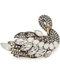 Heidi Daus - Graceful Goddess Swan Song Pin - Lyst