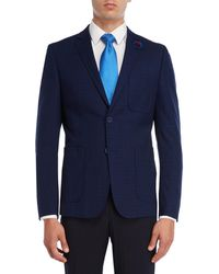 English Laundry - Navy Grid Sport Coat - Lyst