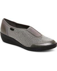 Ak Anne Klein - Grey & Black Yarmilla Comfort Wedge Shoes - Lyst
