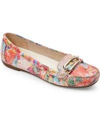 Ak Anne Klein - Norris Floral Print Moc Toe Loafers - Lyst