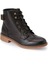 Wanted - Black Nellis Buckled Combat Boots - Lyst