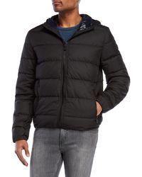 e60825e8119b8 Lyst - Michael Kors Reversible Hooded Jacket in Black for Men