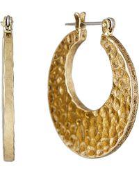 Luv Aj - Gold-tone Hammered Hoop Earrings - Lyst