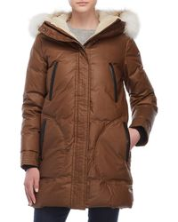 SOIA & KYO - Real Fur Trim Sherpa Lined Down Coat - Lyst