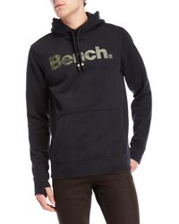 Bench - Camouflage Logo Fleece Hoodie - Lyst