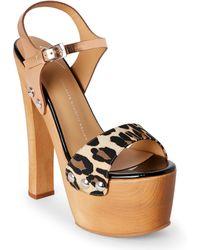 Giuseppe Zanotti - Leopard Print Saintro Platform Sandals - Lyst