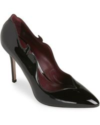 Aperlai - Black Edith Pointed Toe Pumps - Lyst