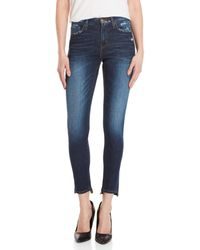 Flying Monkey - Med Wash Mid-rise Skinny Jeans - Lyst