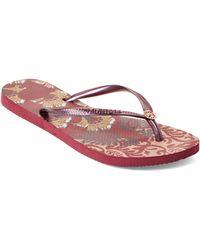 38088d8cc Havaianas - Beet Slim Royal Flip Flops - Lyst