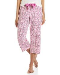 Hue - Pink Printed Capri Pj Pants - Lyst