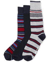 Ben Sherman - 3-pack Striped Crew Socks - Lyst