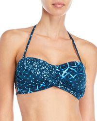 Lucky Brand - Printed Bandeau Bikini Top - Lyst