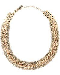 Steve Madden - Gold-tone Linked Stud Necklace - Lyst