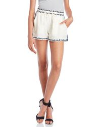 Ella Moss - Embroidered Flutter Shorts - Lyst