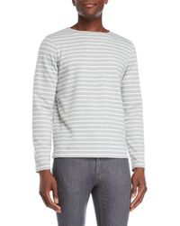 Barque - Grey Stripe Terry Pullover - Lyst