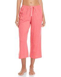 2cf356aaec8 Lyst - Hue ® Plus Size Printed Capri Pajama Set in Pink