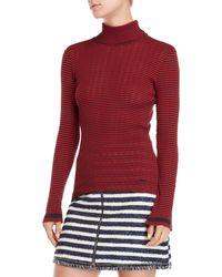 Sonia by Sonia Rykiel - Striped Turtleneck Sweater - Lyst