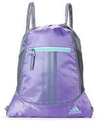 adidas - Purple & Aqua Alliance Sackpack - Lyst
