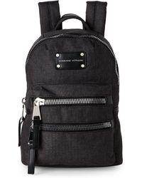 Adrienne Vittadini - Black High-Density Nylon Mini Backpack - Lyst