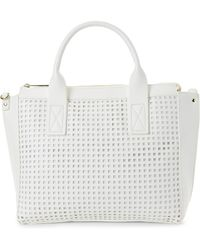 Olivia + Joy - White Perforated Percy Tote - Lyst