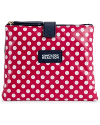 Kenneth Cole Reaction - Pink Polka Dot Cosmetic Case - Lyst