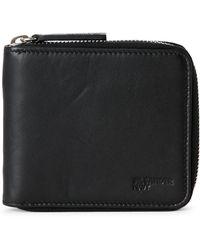 Jil Sander Navy - Black Zip Around Wallet - Lyst