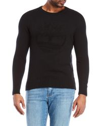 Timberland - Flocked Logo Slim Fit Sweater - Lyst