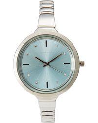 Adrienne Vittadini - Ad10940 Silver-Tone Watch - Lyst
